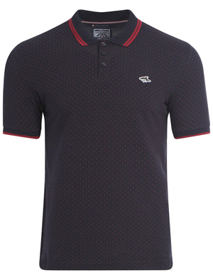 Le Shark Beckflow polo with red polka-dots
