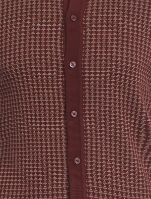 Le Shark Bradman knitted cardigan in oxblood