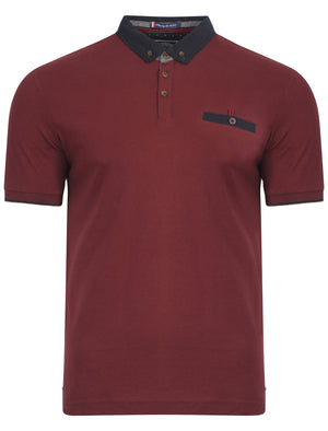 Le Shark Bramwell polo shirt in oxblood