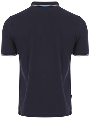 Le Shark Brewer navy polo shirt