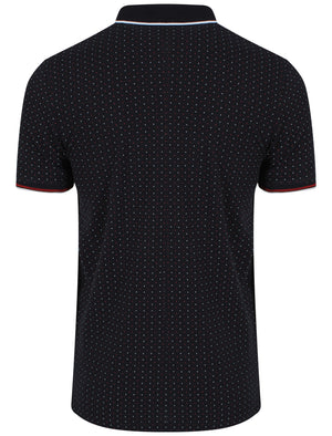 Brushwood Polkadot Polo Shirt in Navy - Le Shark