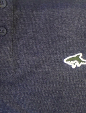 Byland 2 Piqué Polo Shirt in Mood Indigo Marl - Le Shark