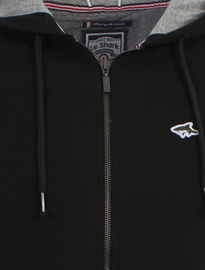 Le Shark Castlands zip up hoodie in black