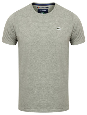 Darsham Crew Neck T-Shirt in Light Grey Marl – Le Shark