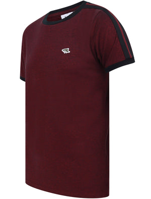 Drayton Cotton Pique T-Shirt with Racer Stripe Sleeves In Port Royale - Le Shark