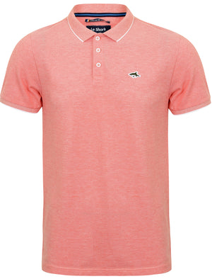 Duthie Birdseye Pique Polo Shirt in Coral / White – Le Shark