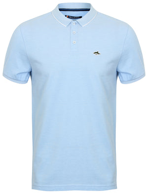 Duthie Birdseye Pique Polo Shirt in Light Blue / White – Le Shark