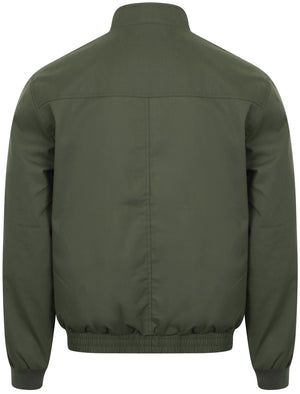 Frederick Harrington Bomber Jacket In Khaki - Le Shark