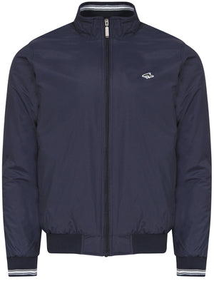Gadon Zip Through Harrington Jacket in Midnight Blue - Le Shark