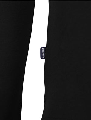 Gifford Crew Neck Long Sleeve Cotton Top in Black – Le Shark