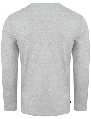 Gifford Crew Neck Long Sleeve Cotton Top in Light Grey Marl – Le Shark