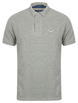 Halkin Pique Polo Shirt in Light Grey Marl – Le Shark