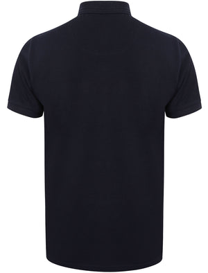 Halkin Pique Polo Shirt in True Navy – Le Shark