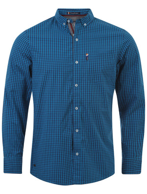 Le Shark Hampstead cotton shirt in Estate Blue