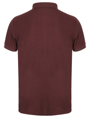 Highway Polo Shirt with Chest Pocket in Deep Aubergine – Le Shark