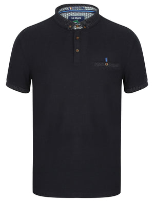 Highway Polo Shirt with Chest Pocket in True Navy – Le Shark