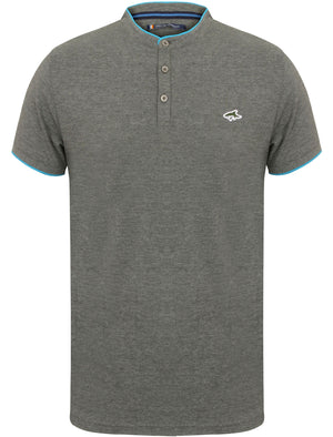 Hillrise Collarless Polo Shirt in Mid Grey Marl – Le Shark