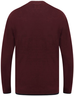 Hinault Textured Cotton Knit Jumper with Tipping In Port Royale – Le Shark