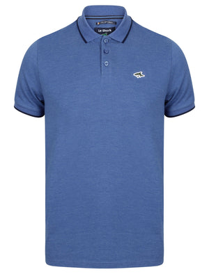 Hobday Polo Shirt in Cornflower Blue Marl – Le Shark