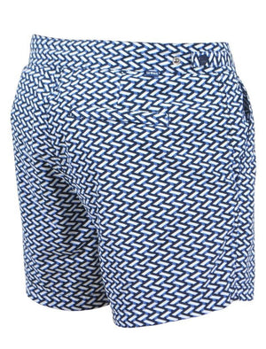 Hooton Geo Print Swim Shorts in True Navy – Le Shark