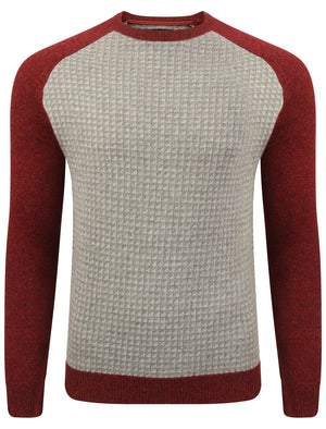 Le Shark Jepson red lambswool jumper