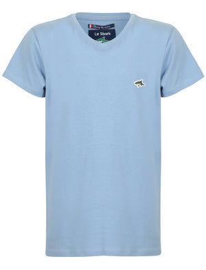 Boys Kensal V Neck Cotton Jersey T-Shirt in Placid Blue – Le Shark Kids