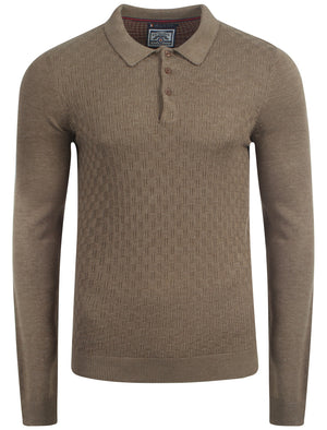 Le Shark Klay knitted polo in brown