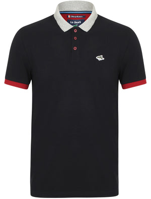 Langstone Cotton Pique Polo Shirt In True Navy – Le Shark
