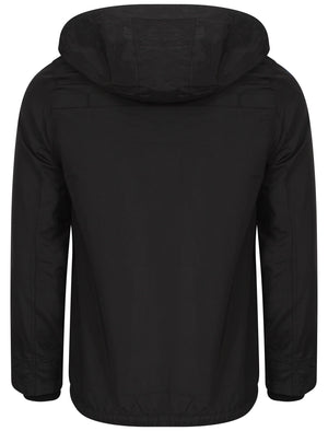 Lantry Hooded Storm Jacket in Black - Le Shark