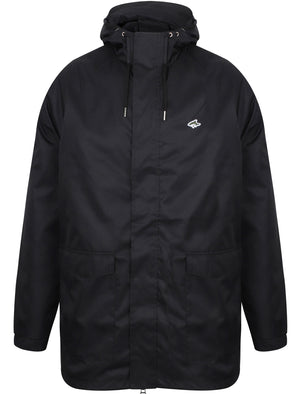 Litcham Lightweight Parka Jacket In Black - Le Shark