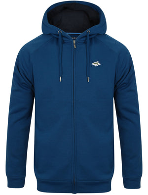 Lombard Zip Through Hoodie in Teal Blue – Le Shark