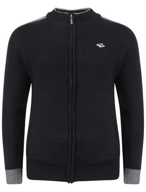 Le Shark Pantani navy blue zip up cardigan
