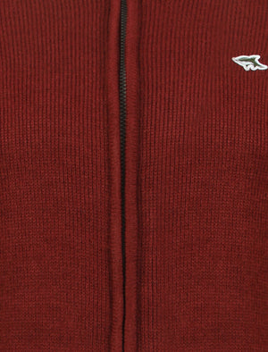 Le Shark Pantani red zip up cardigan