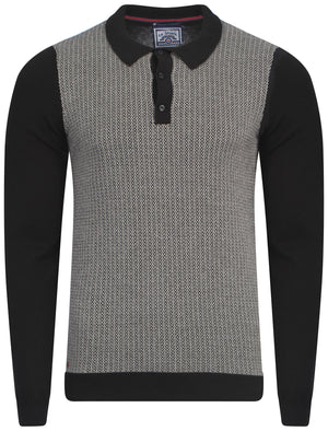 Le Shark Rutto knitted polo in black