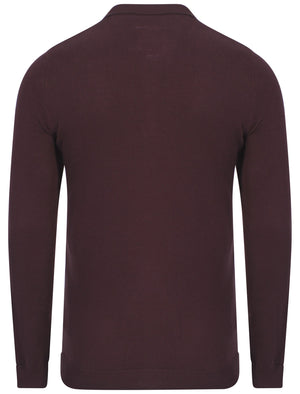 Le Shark Rutto knitted polo in oxblood
