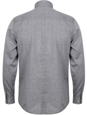 Wilder Long Sleeve Cotton Shirt in Charcoal – Le Shark