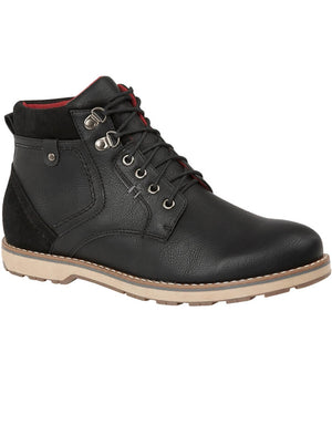 Catalonia Lace Up Boots in Black
