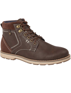 Catalonia Lace Up Boots in Brown