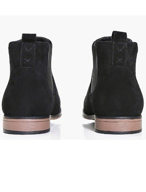 Kanye Suedette Chelsea Boots In Black