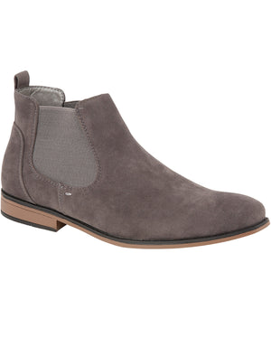 Kanye Suedette Chelsea Boots In Grey