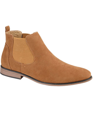 Kanye Suedette Chelsea Boots In Tan