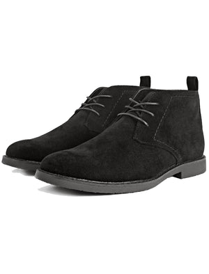 Panama Suedette Desert Boots In Black