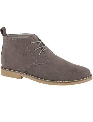Panama Suedette Desert Boots In Grey