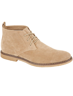 Panama Suedette Desert Boots In Sand