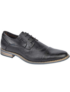 Senator Lace Up Derby Shoes in Black