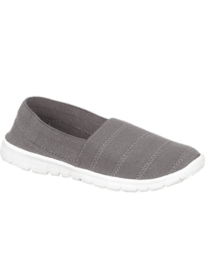 Womens Nadia Elasticated Slip On Plimsolls in Grey