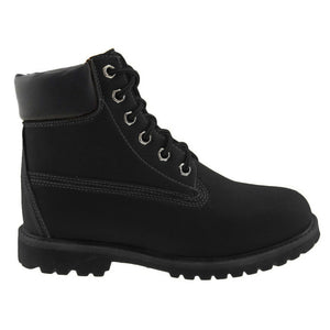 Kit 6 hole lace up black work boots