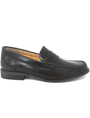 Mens Brice Penny Loafers in Black