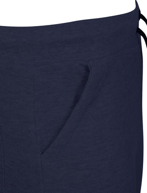 Chesemen Textured Piqué Shorts in True Navy - Dissident