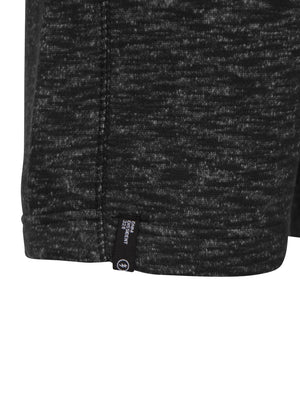 Clavell Spacedye Sweat Shorts in Black Slub Fleck - Dissident